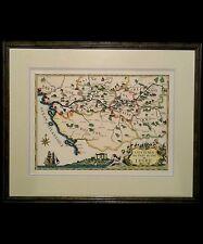 """Vintage French lithograph map by Daniel Derveaux """"Chateaux de Loire"""" 1941"""