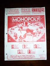 PINBALL MONOPOLY MANUAL