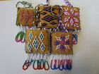 Lovely Keychains, Moose hide,Intricately made hand beaded Native American Art.