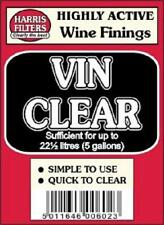 Harris Filters Vinclear (vin clear) finings for clear home made wine.