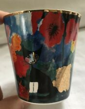 SET OF 4 NIB Goebel Rosina Wachtmeister Serafina Cat Votive Tea Light Holders