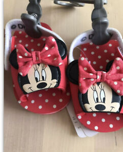 Mothercare Minnie Mouse Baby Girl Pram Shoes 0/3months Brand New With Tags