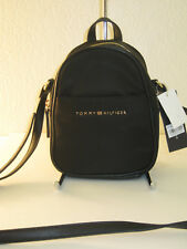 Tommy Hilfiger Juliette Black Nylon Backpack Crossbody Bag $88