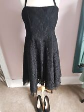 Black Lace Rockabilly Dress Per Una Uk18