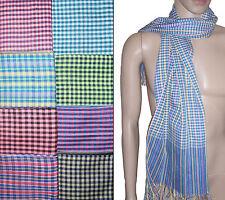 Authentique foulard Khmer 100% coton - Cambodian Krama Kroma Cambodge écharpe