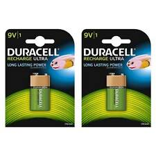 Nuevo Batería Recargable NiMH Duracell 2x 9 V 6LR61 PP3 HR22 170 mAh Capacidad