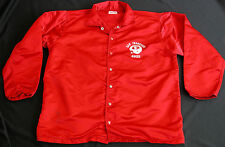Vtg 70s SAN FRANCISCO 49ERS Red Satin Nylon Jacket Mn XL 46 Windbreaker NFL