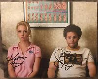 Seth Rogen And Katherine Heigl Autograph 8x10 Signed Photo Knocked Up COA