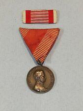 K.u.K / Orden /Bronzene Tapferkeitsmedaille, Kaiser Karl mit Band+Feldspange WK1