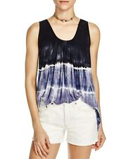 People 4612 Size Medium M Black Blue Ombre Tank Top Knit Stretch