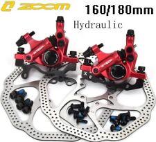 Pinzas de frenos de disco hidráulicos Bicicleta de Montaña Bici Delantero Trasero Mecánico Tire 160/180 Rotor