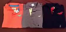 NWT Men's Hollister Abercrombie Lot 3 Polo Shirts LG L  Large  Worldwide Ship