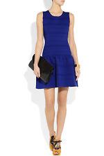 NEW MAJE Madison Stretch Crepe Jersey MINI DRESS $340 SIZE 2 (6) ELECTRIC BLUE