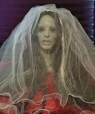 Halloween Horror Zombie Death Bride Prop Head & Hands - Haunted House SCARY!