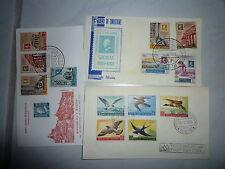 Lettere covers 3 solo tag lettere FDCs San Marino 1959 II