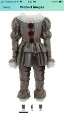 Yichuhaoxi Kids Clown Halloween Costume - Deluxe Movie Pennywise Costume Silver