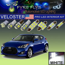 12 Pcs Xenon White LED Pro Package Interior Lights Kit for Hyundai Veloster