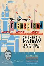 Vintage Disney 1955 ( Opening Ceremony ) Collector's Poster Print - B2G1F