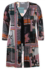Women's light patterned duster coat plus size