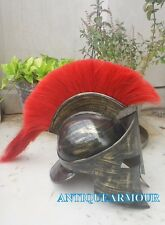 Halloween Costume 300 Armour Helmet Movie Spartan Helmet With Black Plume Gift
