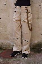 GUESS JEANS LADIES CORDUROY CREAM DENIM JEANS COTTON HIP HOP SLOUCH FIT W34 UK16