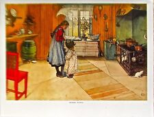 Carl Larsson Poster The Kitchen  Offset Lithograph Unsigned 14x11