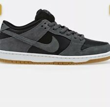 Nike SB Dunk Low Dark Grey Black White Gum TRD Sz 10 AR0778-001