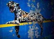 Banksy Graffiti Panther A3 Box Canvas Print