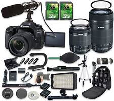 Canon EOS 80D Camera with Canon EF-S 18-55mm Lens + Canon EF-S 55-250mm Lens