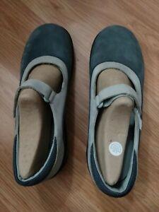 Dansko 2 tone blue gray Mary Jane Clogs Shoes Size 41 10-10.5