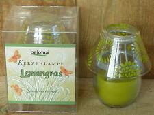 Duftkerze als Kerzenlampe, Lemongras, spritzig & belebend, in Verpackung
