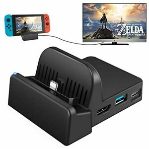 Switch TV Dock Portable Charging Stand for Nintendo Switch with Extra USB