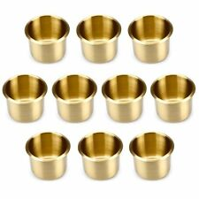 10 Brass Small Standard Size Drop In Drink Cup Holders for Custom Poker Table