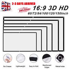 """60-150"""" Portable Projector Screen Home Outdoor Camping 3D HD 16:9 Movie Theater"""