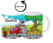 Kinderbecher Feuerwehr bruchfest mit Namen Kindertasse Kunststoffbecher Tasse