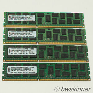 4x 4GB 2Rx4 PC3-10600R-DDR3 1333MHz ECC REG Server RAM Modules. Samsung. 16GB.