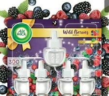 Air Wick plug in Scented Oil 5 Refills, Wild Berries, Holiday scent, Holiday