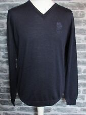 ENGLAND RUGBY RFU MENS V NECK NAVY FINE MERINO WOOL SWEATER  S M L XXL RRP £59
