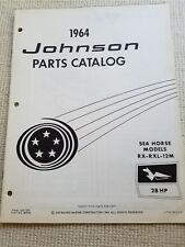 1964 Johnson 28 HP Outboard Parts Catalog rc rxl 12m sea horse