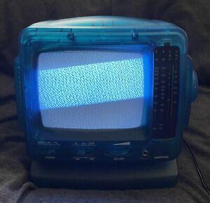 Vintage Retro Portable 5.5 Inch 14 cm Black And White TV and Radio