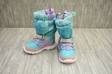 **Stride Rite M2P Frozen Sneaker Boots, Toddler Girl's Size 4M, Turquoise NEW