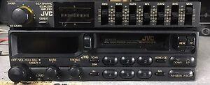 Old School JVC KS-RX750 Cassette Player And KS-EA400 Graphic EQ Amplifier,RARE