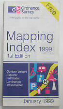 Old vintage OS Ordnance Survey Mapping Index January 1999 - 1st Edition