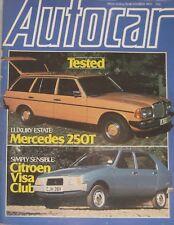 Autocar magazine 10/11/1979 featuring Mercedes road test, Citroen Visa, Reliant