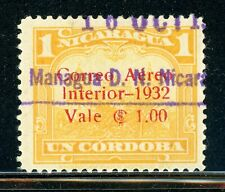 NICARAGUA Used Selections: MAXWELL #A67 1C/1C Yellow Cathedral $$$