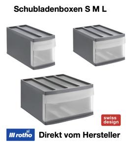 Rotho Systemix Ordnungs Schubladen Box Schreibtisch Büro kombinierbar Kunststoff