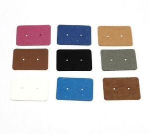 Display Cards Blank Earrings Ear Studs Jewelry Hanging Tags Kraft Paper Cards
