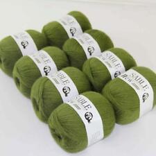 8Ballsx50g Pure Sable Cashmere Hand Knitwear Wool Shawls Soft Crochet Yarn 05