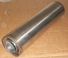 """50mm bore (2"""") 3"""" Round x 12"""" Long Universal Stainless steel exhaust silencer"""