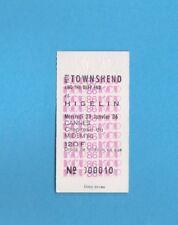 1986 Vintage unused concert ticket - Pete Townshend - great shape